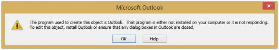 error opening attachments