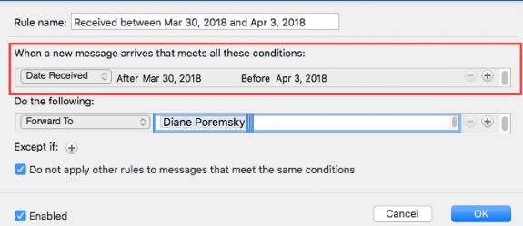 mac rules dialog