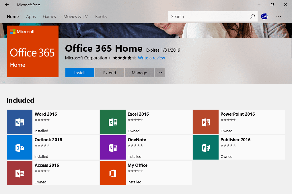 The Windows Store Outlook App