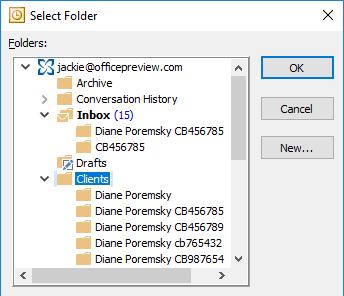 select the parent folder