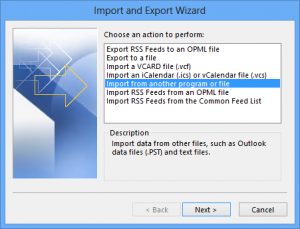 Import file