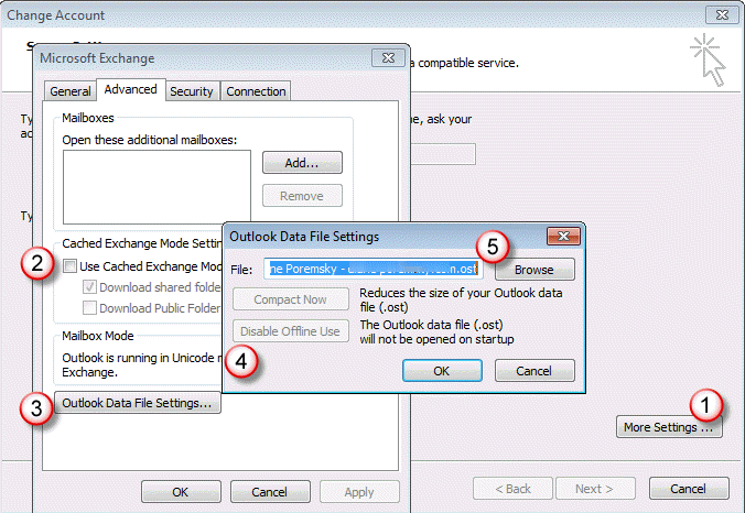 Moving an Exchange Offline Data File (* ost)