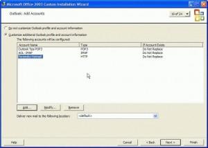 Create an Outlook PRF