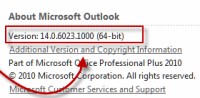 Microsoft Office Outlook 2010 SP 1