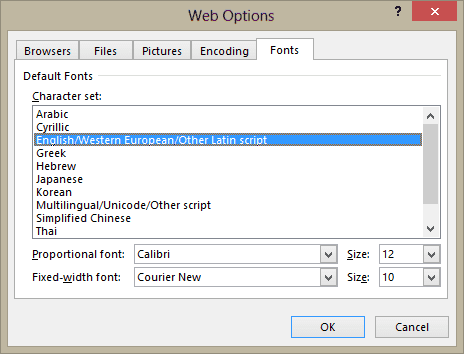 web fonts in outlook 2007 and up
